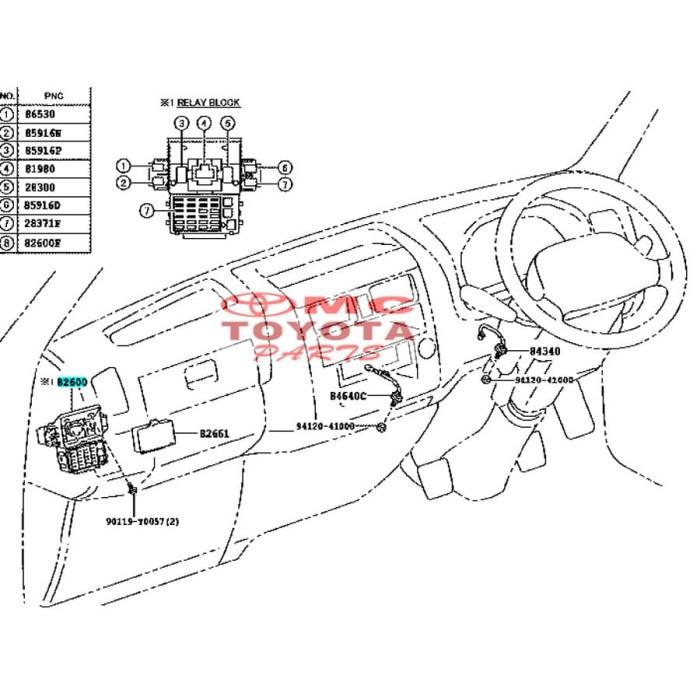 83 Toyotum Fuse Box Diagram