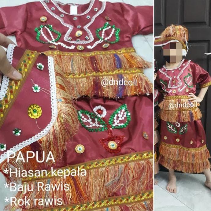 Jual Heidi Baju Adat Papua Cewe Kostum Karnaval Papua Perempuan Baju Adat Jakarta Barat Febri Stored Tokopedia