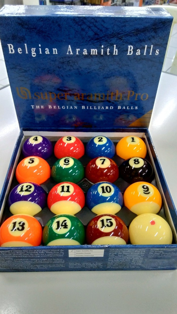 Bola Billyard : billyard, Billiard, Biliar, Super, Aramith, Ukuran, 1per4, Jakarta, Pusat, Ernaw, Tokopedia