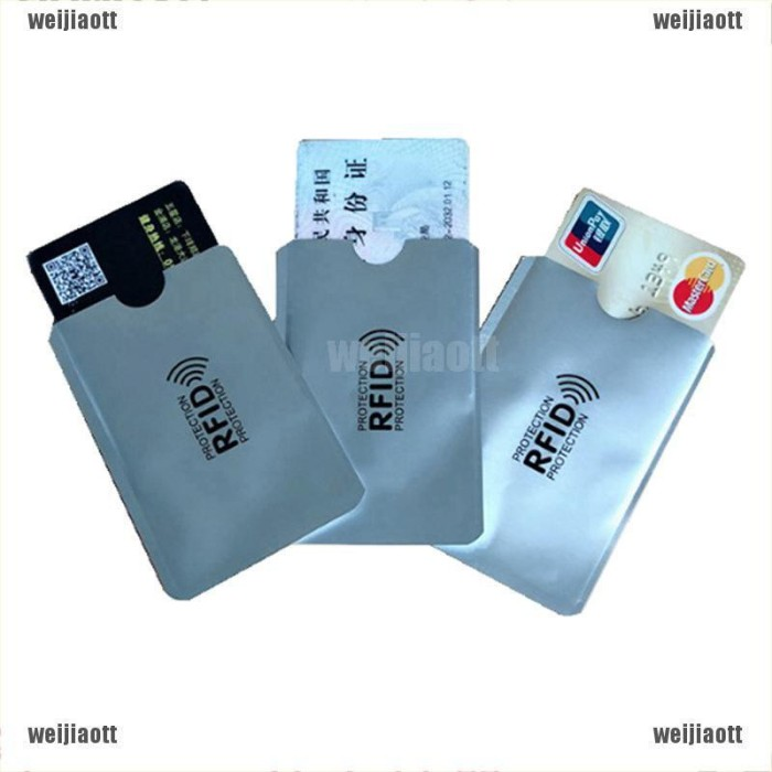 Jual Weijiaott Aluminium Anti Rfid Wallet Blocking Reader Lock Bank Card Jakarta Pusat Muawanah Online Tokopedia