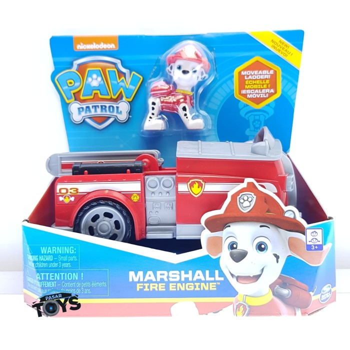 Jual Paw Patrol Marshall Fire Engine Vehicle With Collectible Figure Jakarta Utara Pasar Toys Tokopedia