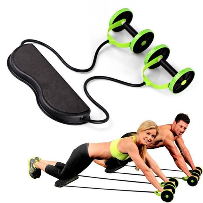 Jual Exercise Equipment Home Fitness Equipment Double Wheel Abdominal Jakarta Selatan Favorite Toko Tokopedia