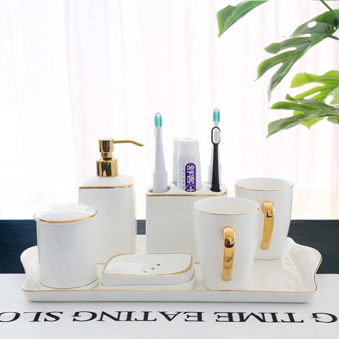 Jual Canggih Bathroom Accessories Set Ceramic Toothbrush Holder Soap Kab Purbalingga Serba Ada 07 Tokopedia