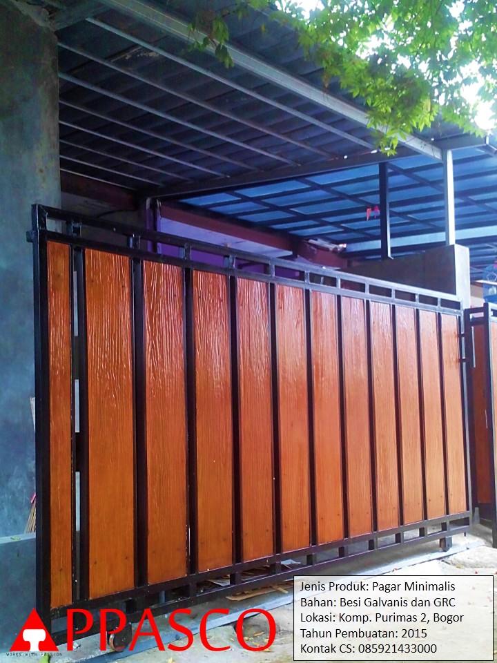 konstruksi baja ringan untuk rumah minimalis jual pagar dengan motif kayu - jasa ...