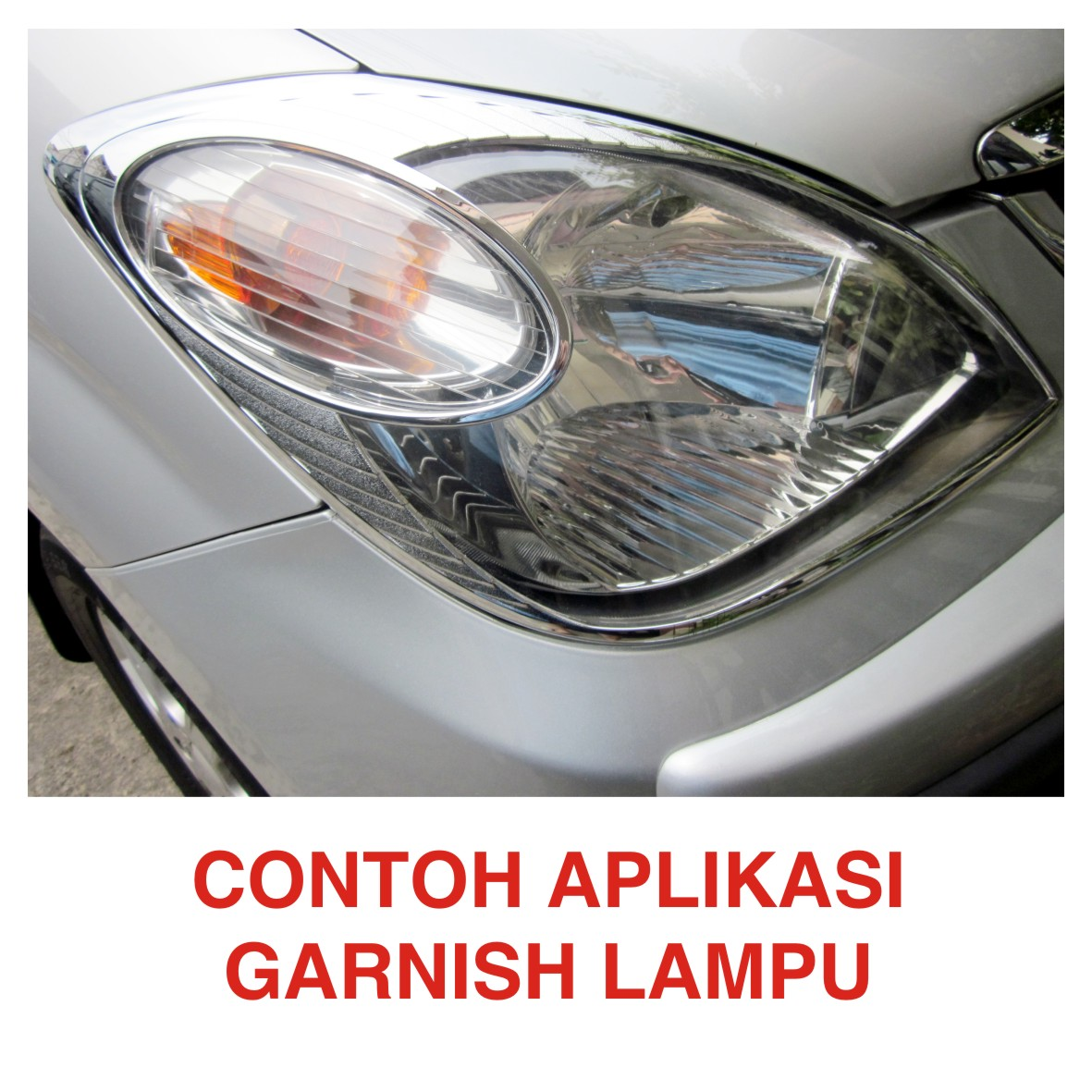 garnish fog lamp grand new avanza 2017 modifikasi harga jual lampu xenia chrome
