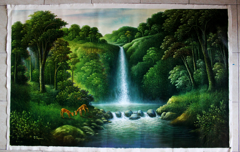 Lukisan Gambar Pemandangan Alam  Koleksi Gambar HD