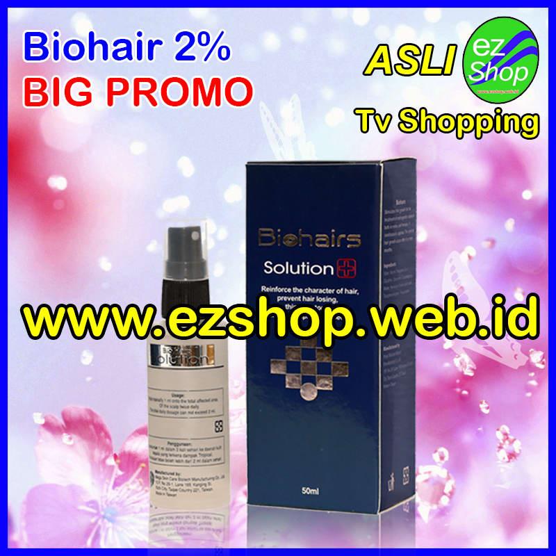 Biohairs Solution  Obat Penumbuh Rambut Alami Biohair Tonic Bio Hair Hairs Jaminan Asli Ezshop Ez Shop
