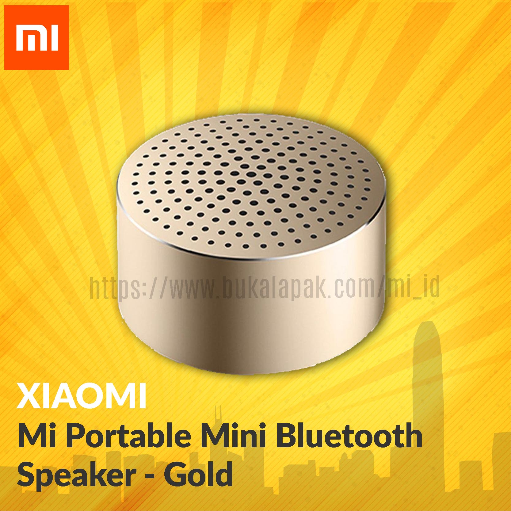 Xiaomi Mi Portable Mini Bluetooth Speaker - Grey/gold/silver