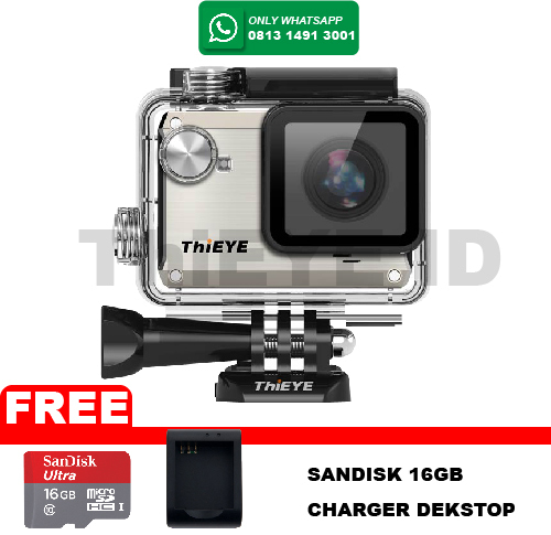 ActionCam ThiEye i30 12MP/Wifi FREE Sandisk 16GB+Charger Desktop - Silver