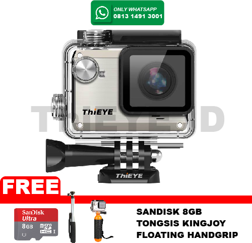 ActionCam ThiEye i30 12MP/Wifi FREE Memory 8GB+Tongsis+Floating