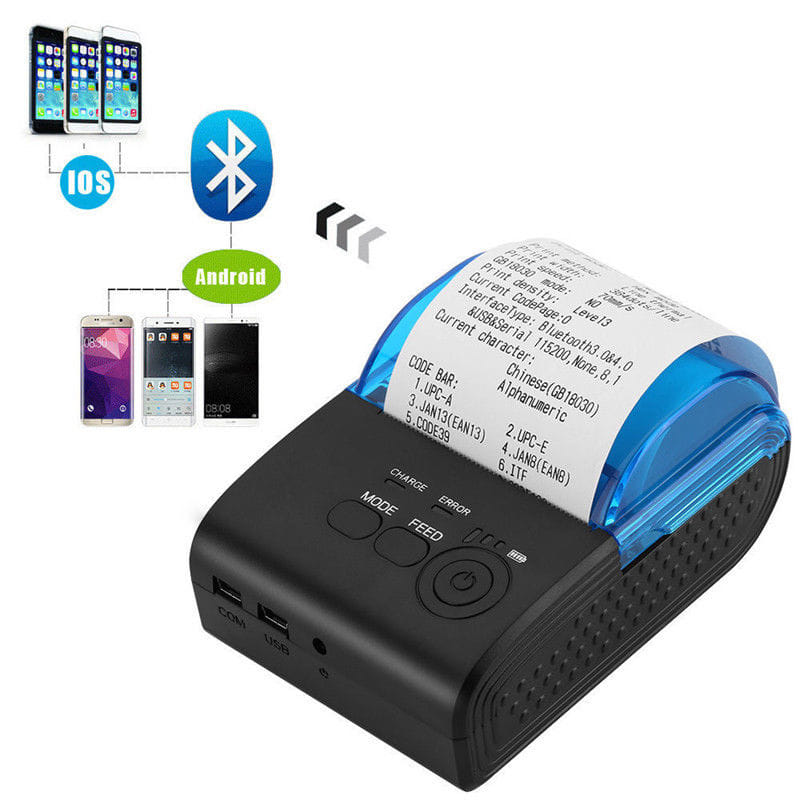 ZJ5805 Printer Thermal Bluetooth  IOS + Android + Indikator Baterai