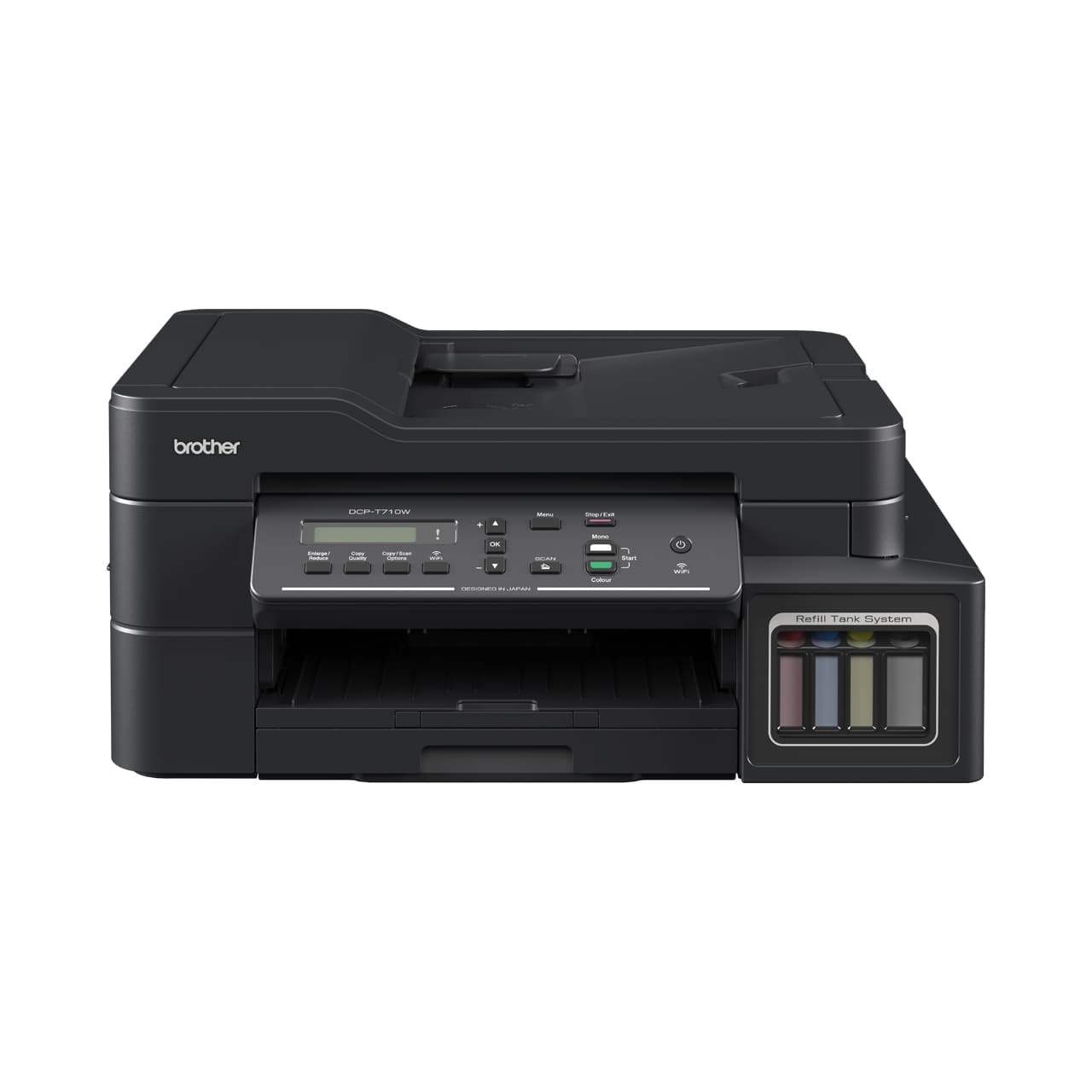 Brother Printer DCP-T710W Ink Tank System - WiFi Mobile Print Scan Copy ADF