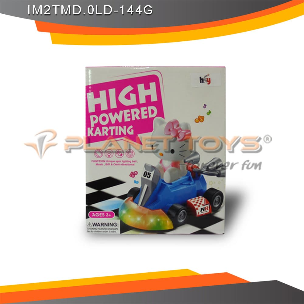 Mainan Hello Kitty Racing Car With Light Dan Sound