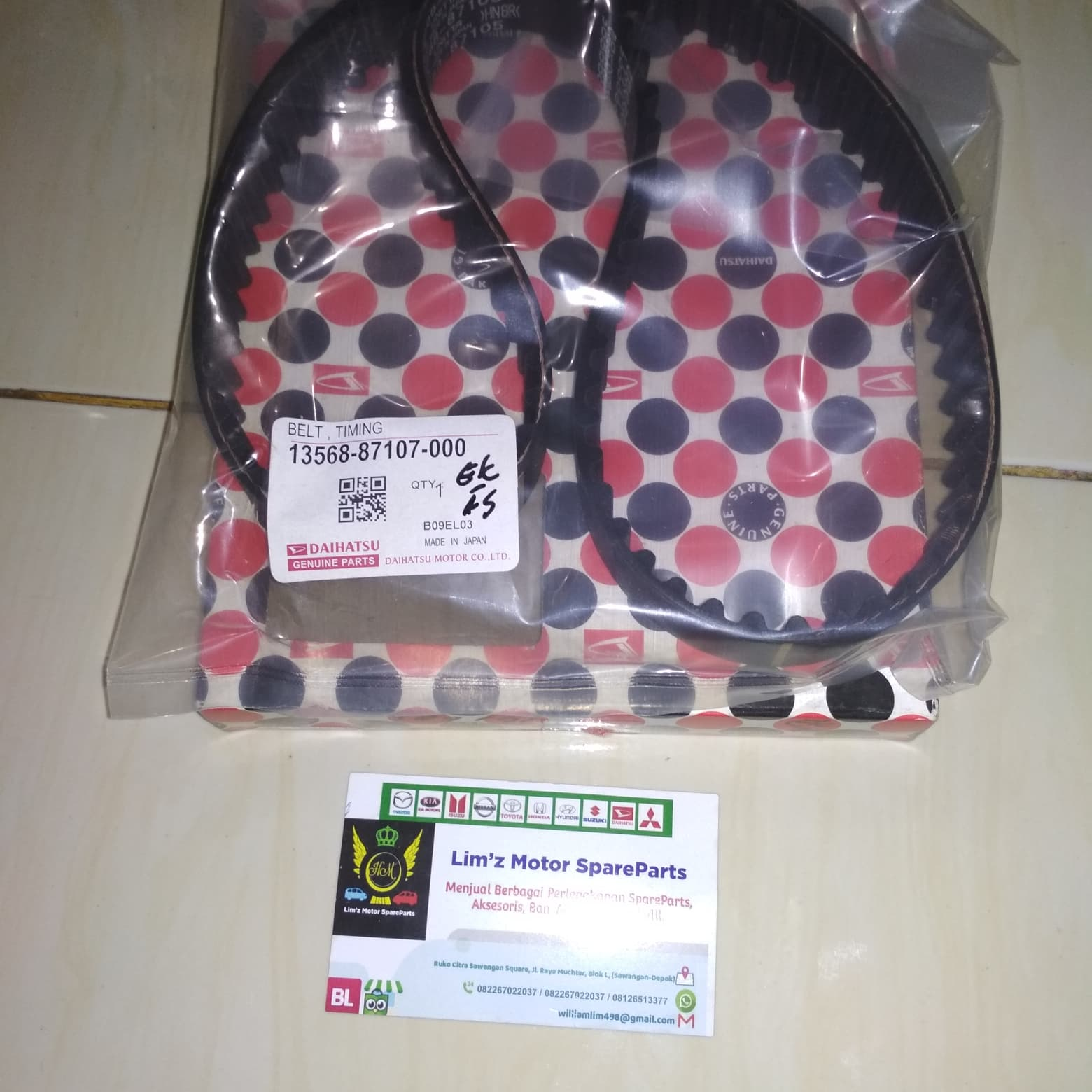 hight resolution of jual timing belt daihatsu zebra s89 espass s91 classy 1 3cc kota depok william shop 7 tokopedia