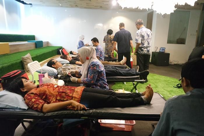 kegiatan donor darah Tokopedia