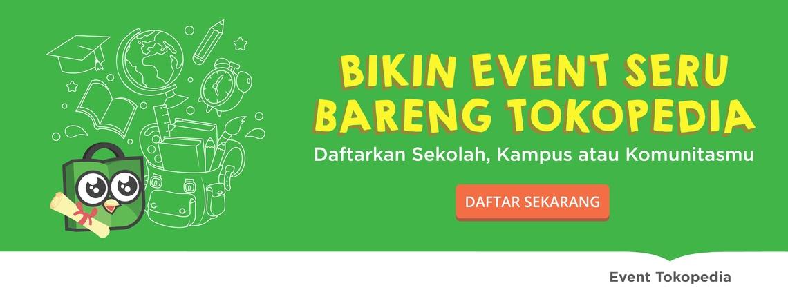 Bikin event seru bareng Tokopedia!
