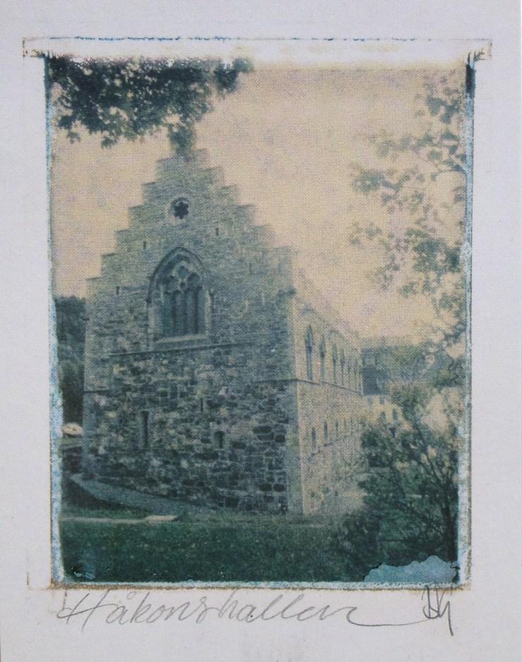 Postcard of Håkon's Hall in Bergen