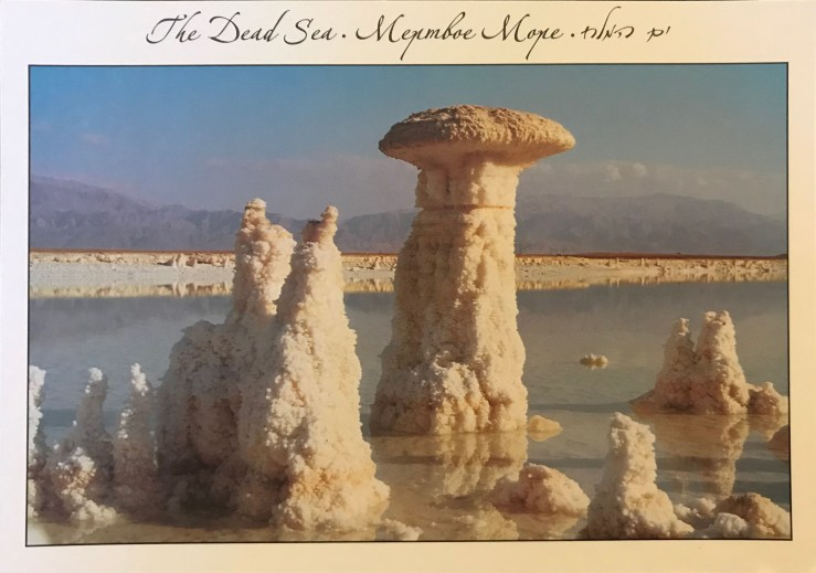 image of salt pillars from the Dead Sea