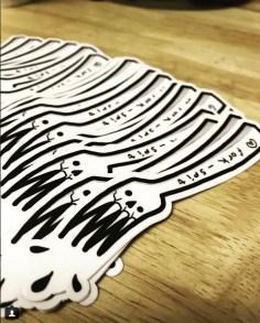 Sheila got stickers! Follow her @fork_spit