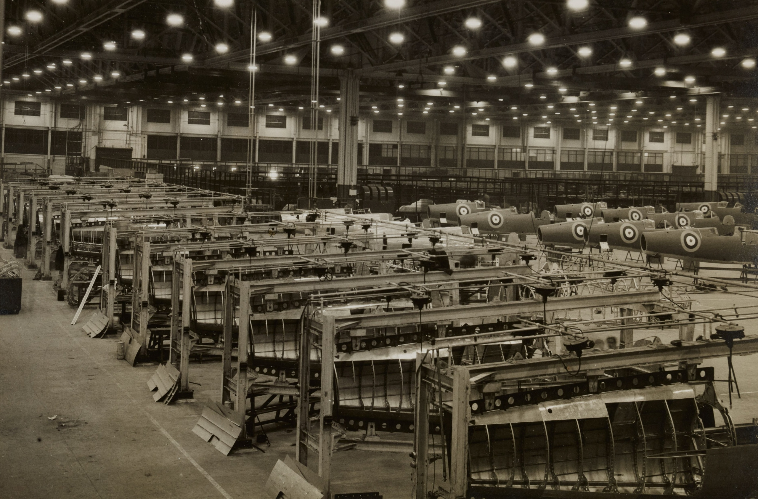 Old factory industrial manufacturing assembly line.