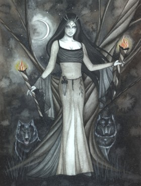 Idealized interpreation of the Morrigan