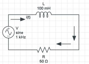 Figura 1. Circuito Eléctrico del tipo LR