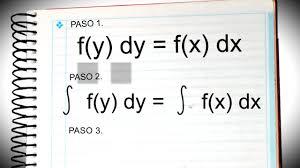 Ecuaciones diferenciales de variables separables ejemplos
