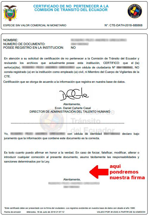 certificado no cte