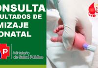 consulta resultados tamizaje neonatal