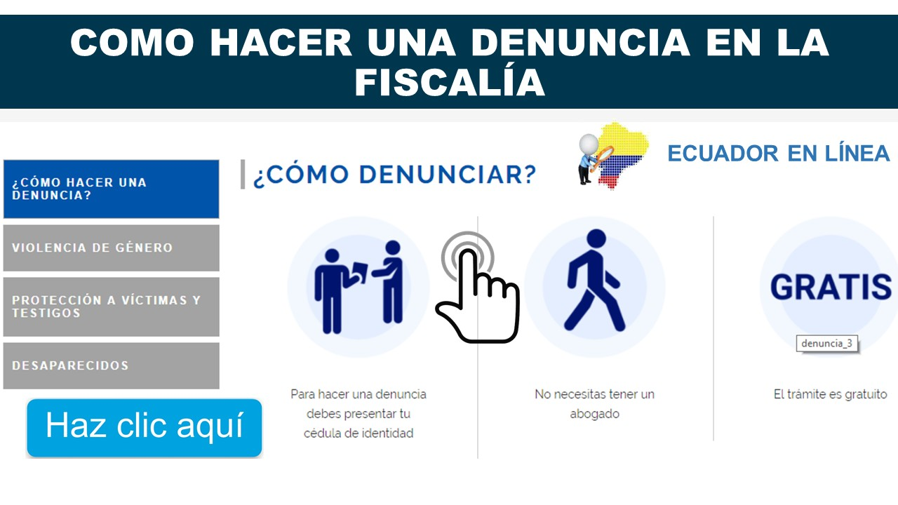 Consultar denuncia en la Fiscalía de Ecuador