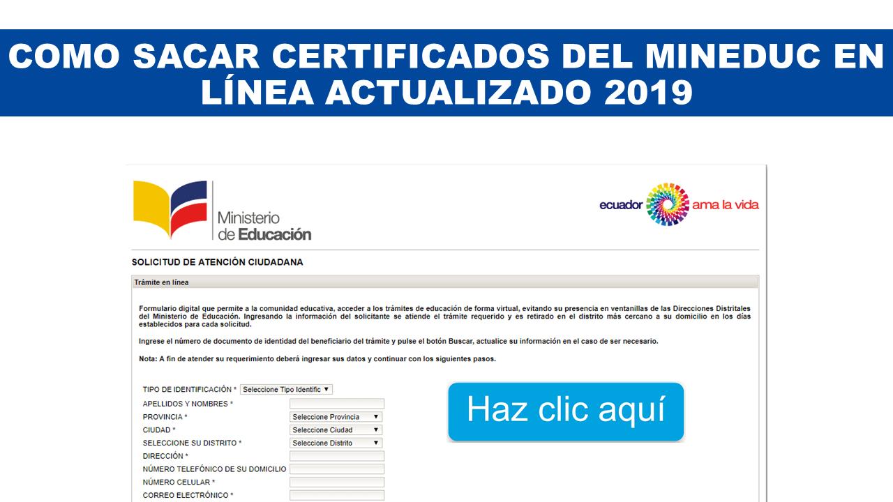 Como Sacar certificados del MINEDUC en línea Actualizado 2019