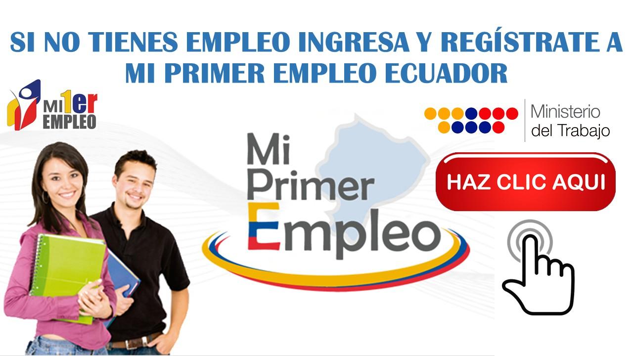 Regístrate en Mi Primer Empleo Ecuador