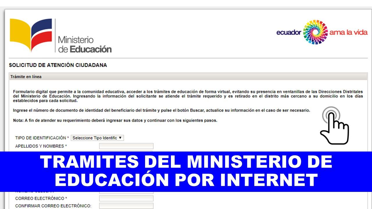 Tramites en línea del Ministerio de Educación Ecuador