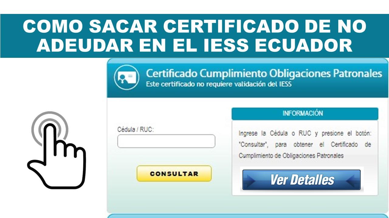 Certificado de no adeudar al IESS Ecuador