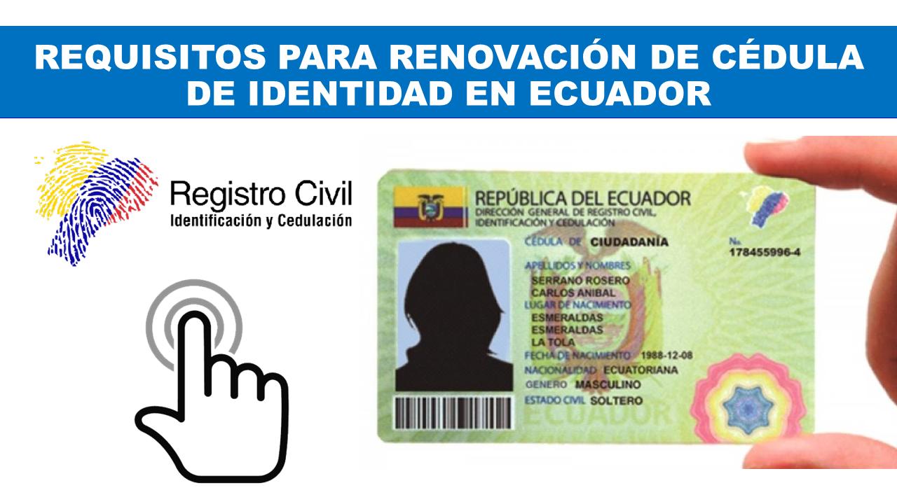 Renovación de Cédula de Identidad en Ecuador