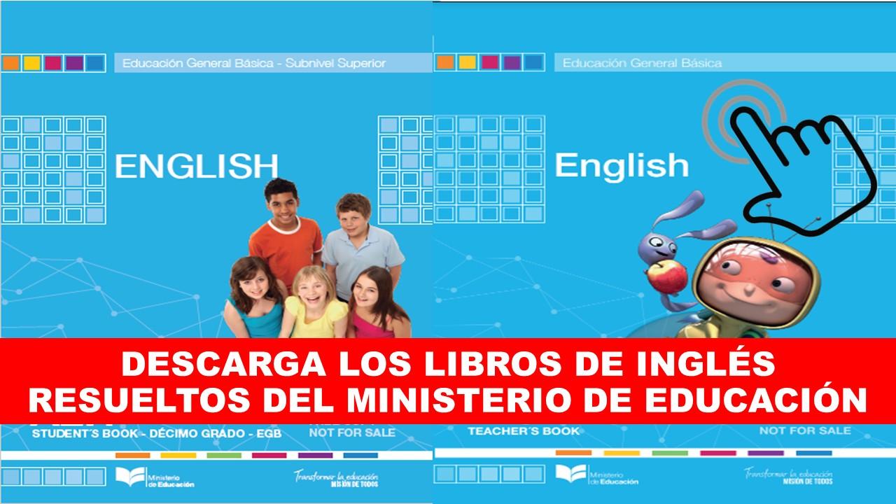 Descarga en PDF los libros de inglés resueltos del Ministerio de Educación 2019