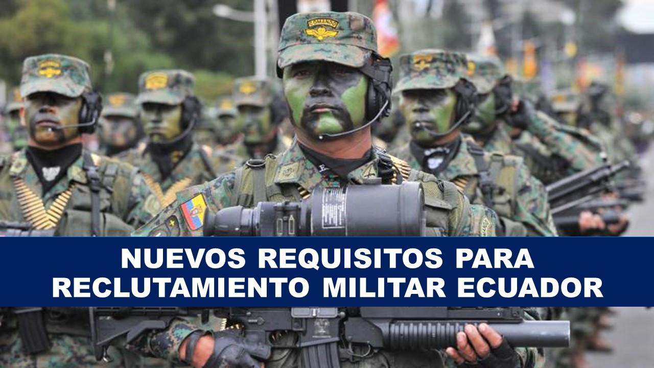 Reclutamiento al Ejército Ecuatoriano Inscripción Militar
