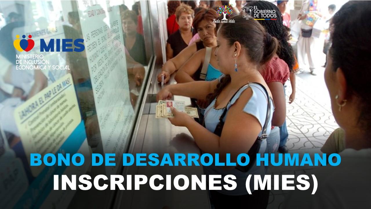 Bono de Desarrollo Humano - Inscripciones