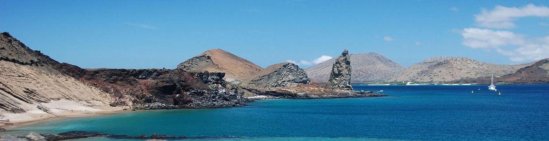 Mar y islas en Galápagos.