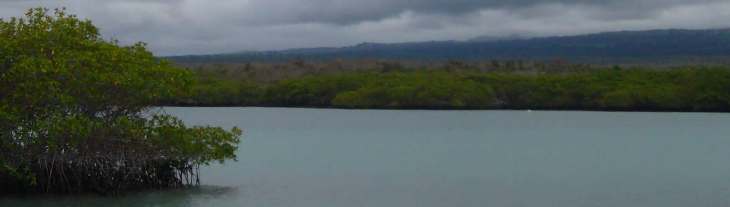 Paisaje en Galápagos.