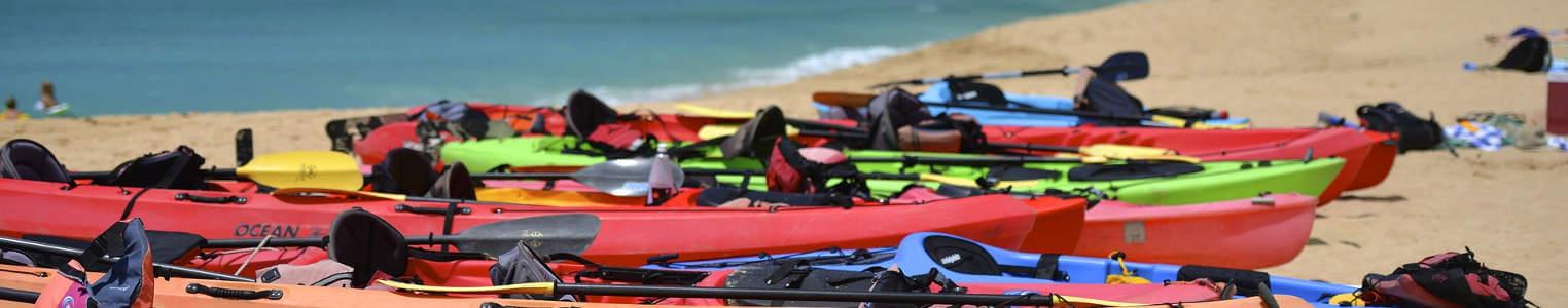 Kayaks.