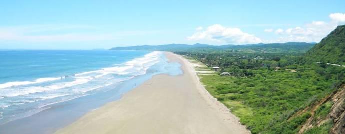 Beach of Olon, Ecuador overview