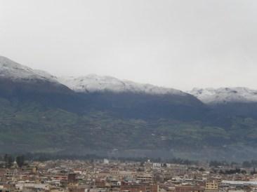 Andes Mountains from Riobamaba, Ecuador