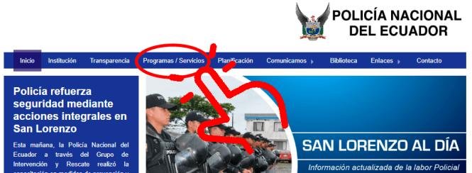 pagina policia nacional servicios