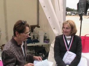 Sylvie Perrin coach de l'écurie Sainte Avoye et Juge de dressage