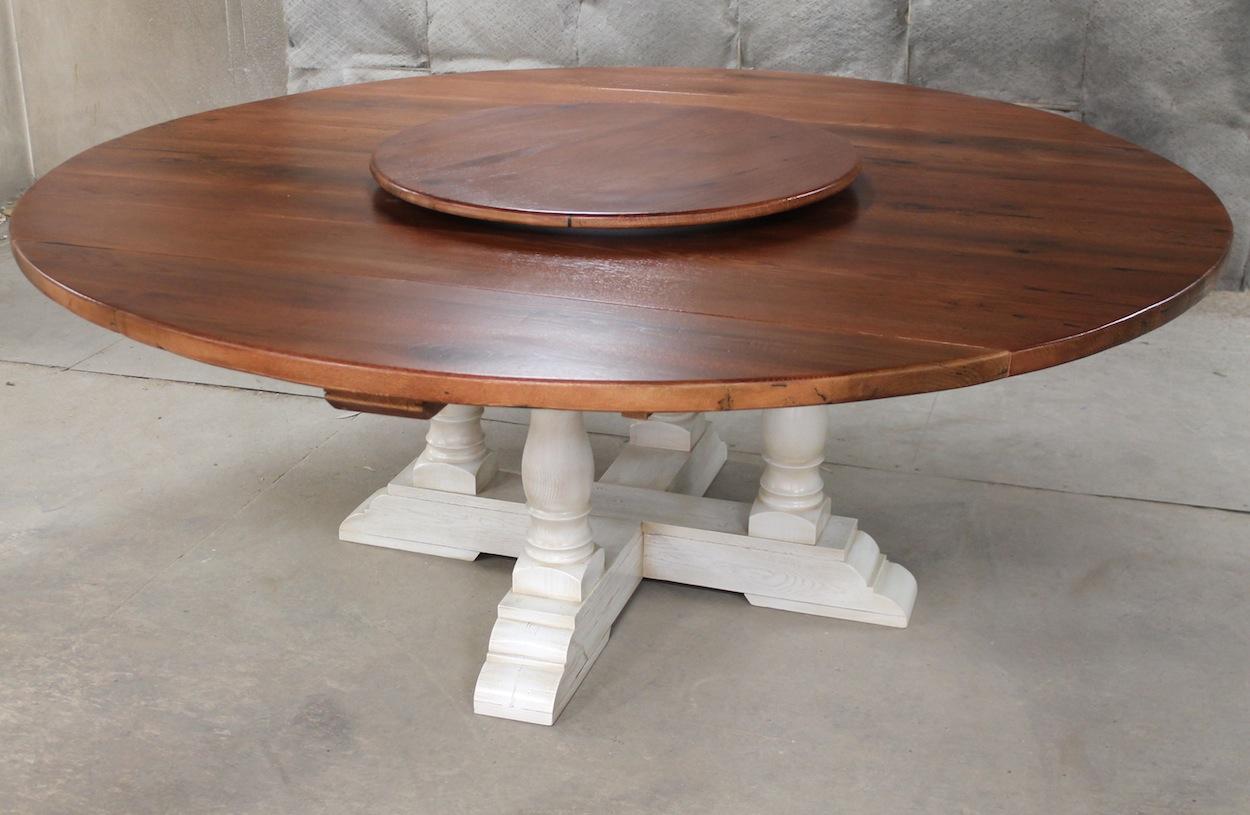 "80"" Round Drop Leaf Table"