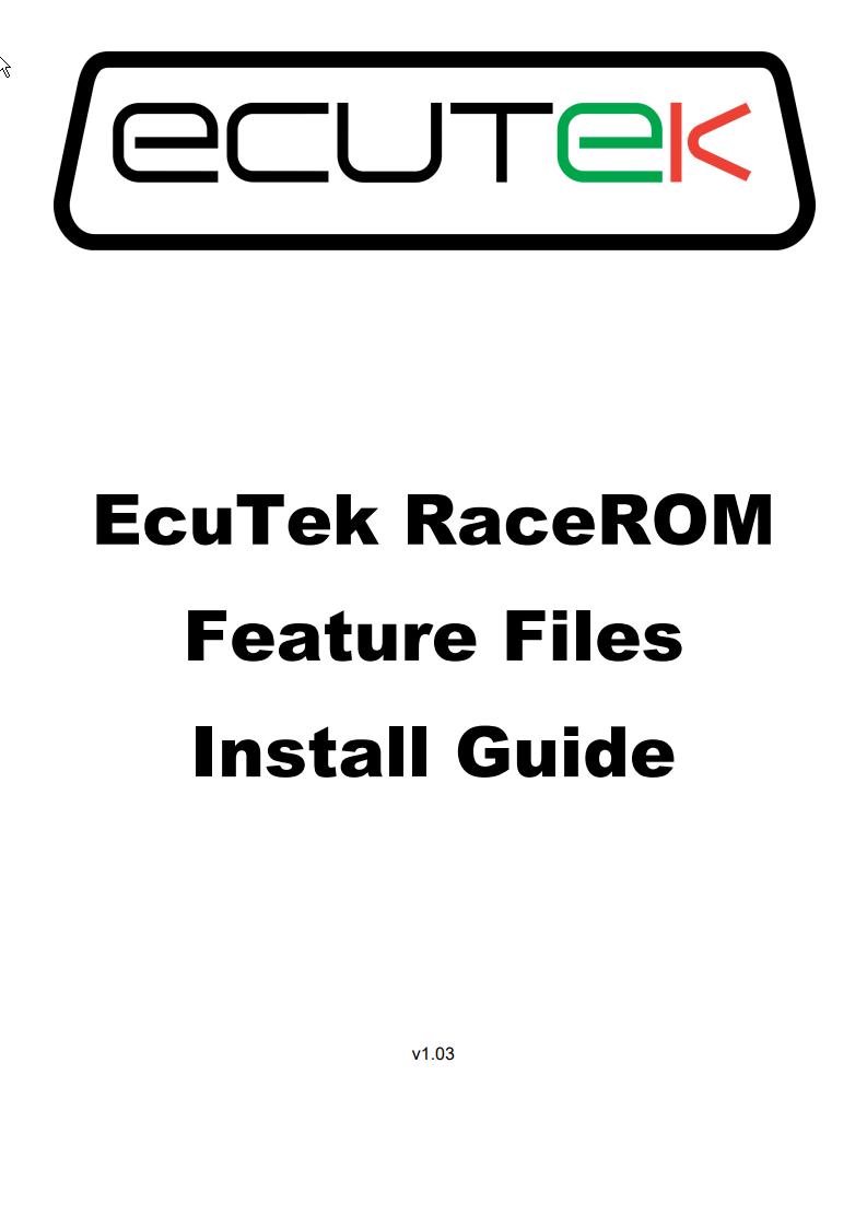 ProECU RaceROM Feature Files Installation Guide