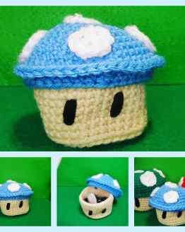 Blue mushroom plush