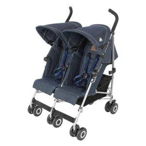 Maclaren Denim Twin Triumph Stroller