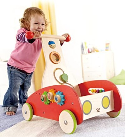 Hape - Wonder Baby Walker Push and Pull Toy - Baby Push Walker review 2